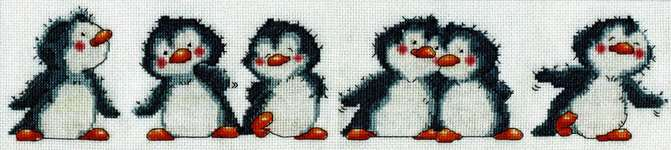 Click for more details of Penguin Row (cross stitch) by Design Works