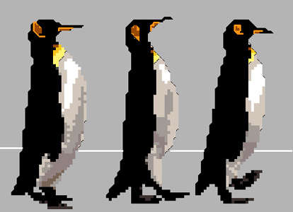 Click for more details of Penguins 3 (cross-stitch) by Anne Peden