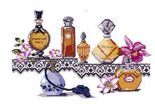 Click for more details of Perfumes (cross-stitch kit) by Royal Paris