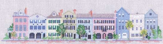 Click for more details of Petite Rainbow Row (cross-stitch pattern) by Barbara & Cheryl