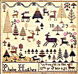 Click for more details of Phebe's Forest (cross stitch) by The City Stitcher