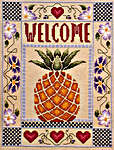 Click for more details of Pineapple Welcome (cross-stitch) by Amaryllis Artworks