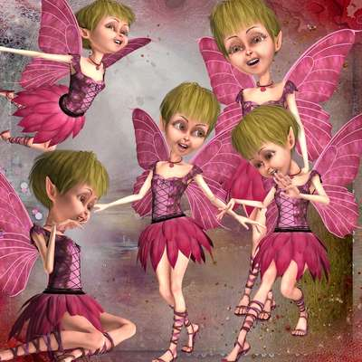 Click for more details of Pink Fairies (digital downloads) by DawnsDesigns