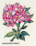 Click for more details of Pink Rhododendron (cross stitch) by Eva Rosenstand