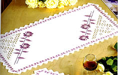 Pink Rose Table Runner