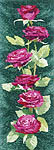 Click for more details of Pink Roses Panel (cross-stitch kit) by John Clayton