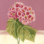 Click for more details of Pink White Hydrangea (cross-stitch kit) by Lanarte