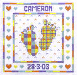 Click for more details of Pitter Patter (cross-stitch kit) by Cinnamon Cat