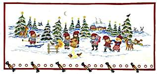 Click for more details of Pixies in the Snow Advent Calendar (cross-stitch kit) by Eva Rosenstand