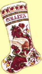 Click for more details of Poinsettia Angel Stocking (cross stitch) by Donna Vermillion