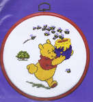 Click for more details of Pooh and Bees (cross-stitch kit) by Disney by Royal Paris