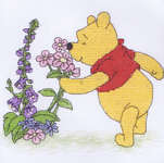 Click for more details of Pooh and Flowers (cross-stitch kit) by Disney by Anchor