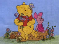 Click for more details of Pooh and Piglet (cross-stitch kit) by Disney by Anchor