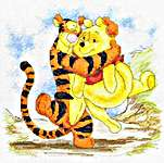 Click for more details of Pooh and Tigger Hug (cross-stitch kit) by Disney by Anchor
