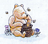 Click for more details of Pooh & Honey (cross-stitch kit) by Disney by Anchor