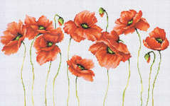 Click for more details of Poppies (cross-stitch kit) by Luca - S