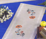 Click for more details of Poppies Table Runner (embroidery kit) by Permin of Copenhagen