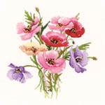 Click for more details of Poppy Posy (cross-stitch kit) by Valerie Pfeiffer