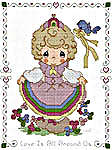 Click for more details of Pretty as a Princess (cross-stitch pattern) by Gloria & Pat