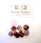 Click for more details of Purple Vintage Buttons x10 (buttons and brads) by Elizabeth Grace