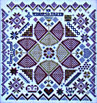 Click for more details of Quaker Medallion Sampler (cross stitch) by Carriage House Samplings