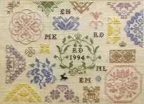 Click for more details of Quaker Style Friendship Sampler (cross-stitch pattern) by Samplers and Such