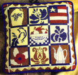 Click for more details of Quilt Pillow (cross stitch) by StitchWorld