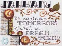 Click for more details of Quote of the Month - January (cross-stitch) by Stoney Creek