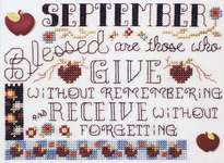Click for more details of Quote of the Month - September (cross-stitch pattern) by Stoney Creek