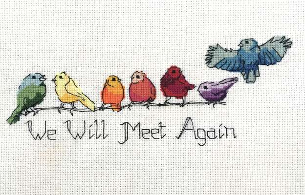 Click for more details of Rainbow Birds (cross stitch) by Julie Lynes
