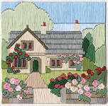 Click for more details of Rambling Rose Cottage (long-stitch) by Rose Swalwell