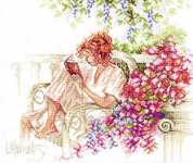 Click for more details of Reading on the Patio (cross-stitch kit) by Lanarte