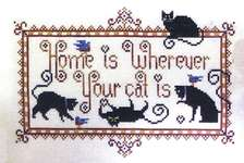 Click for more details of Really Friendly Cats (cross stitch) by Kit & Bixby