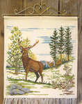 Click for more details of Red Deer Hanging (cross stitch) by Permin of Copenhagen