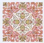 Click for more details of Red Headed Bee (cross stitch) by Ink Circles