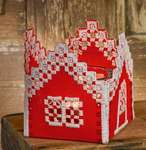 Click for more details of Red House Tea Light Holder (hardanger) by Permin of Copenhagen