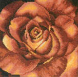 Click for more details of Red Rose (cross-stitch) by Lanarte
