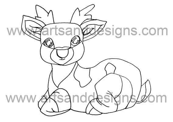 Click for more details of Relaxing Rudolph Digital Stamp (digital downloads) by Julie Lynes