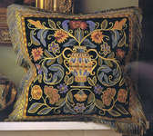 Click for more details of Renaissance Cushion (tapestry) by Glorafilia