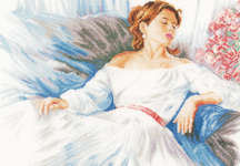Click for more details of Rhapsody in Blue (cross-stitch kit) by Lanarte