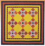 Click for more details of Rick Rack Crossing (patchwork and quilting) by Wagons West Designs