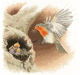 Robin in Flight - cross-stitch kit by John Clayton