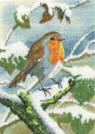 Click for more details of Robin in Winter (cross stitch) by Nigel Artingstall