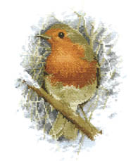 Click for more details of Robin Redbreast (cross-stitch kit) by John Stubbs