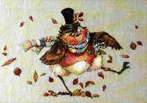 Click for more details of Robin's Jig (cross stitch) by Nimue Fee Main