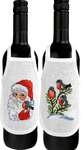 Click for more details of Robins Wine Bottle Aprons (cross stitch) by Permin of Copenhagen