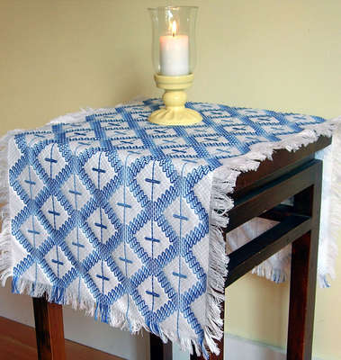 Click for more details of Rolling Hills Runner (swedish weaving pattern) by Swedish Weave Designs