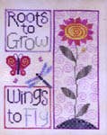 Click for more details of Roots and Wings (cross stitch) by Waxing Moon Designs