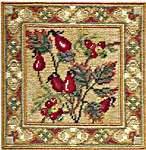 Click for more details of Rose Hips & Bryony (tapestry) by Rose Swalwell