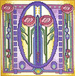 Click for more details of Rose Tile (cross-stitch kit) by Jean Coates